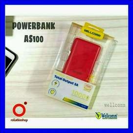 Wellcomm - Power Bank 10000 mAh Triple USB Port 3A + Type-C