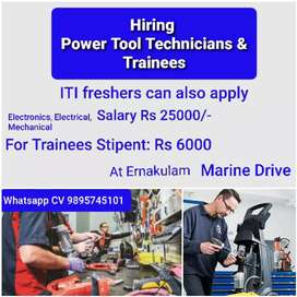 Power Tool Technician & Trainees at Ernakulam