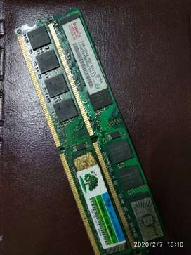 2 pcs. DDR2 Ram Total 2gb