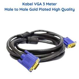 Kabel VGA Monitor 3 Meter Male to Male Gold Plated High Quality 3m LCD