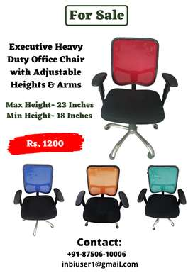 Office Chairs-Revolving , Adjustable Arms