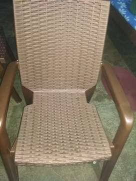 Set of Plastic Chair with Dining