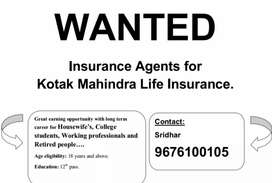 Wanted Insurance agents for kotak life insurance