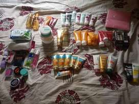 Beauty products are for sale