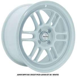 VELG AMW RPF1 RS R15x7.0 PCD 4x100 ET 38 Sigra Brio City Jazz Ayla KIA