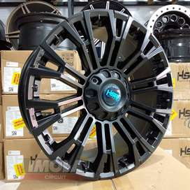 Pelek mobil racing murah ring 20 HSR wheel myth02 lubang 6x139,7 Hitam