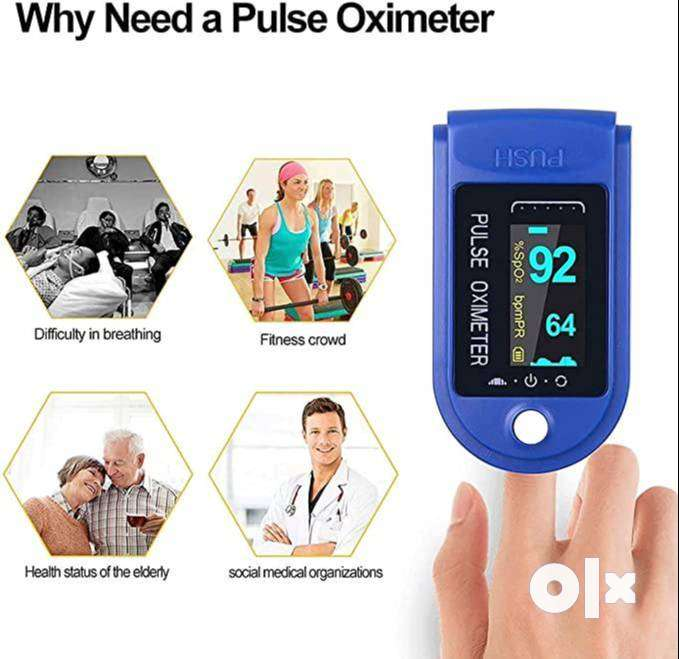 Finger Pulse Oximeter with 2 AAA Batteries(Blue & White Colour) Pulse