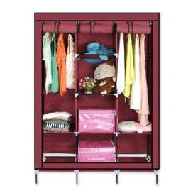 Portable Wardrobe sliding door cloth cabinet is the ideal layout. They