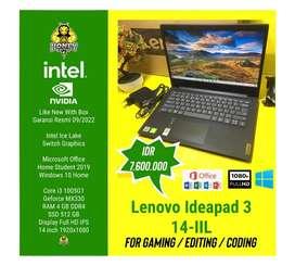 Laptop Spek Grafis/Game - Lenovo Ideapad Slim 3 Garansi Resmi 11 Bulan