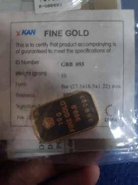 Antam 10 gr asli, emas logam mulia