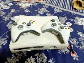 Xbox 360 with 2 wireless controllers