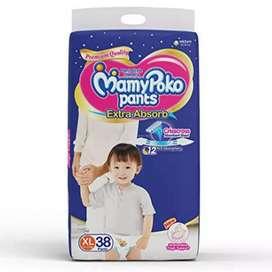 Mammy Poko Pants nd Huggies diapers(total 76 pcs)