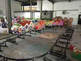 odong odong 13 mini coaster naik turun kereta lantai