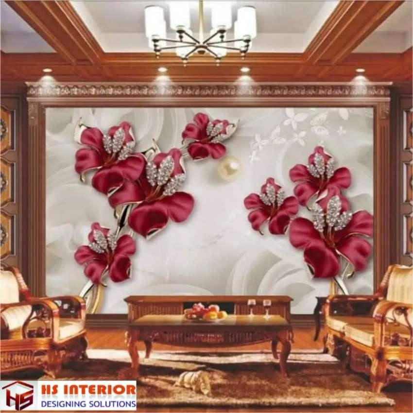 Wallpaper Dinding Bahan Vinil Import Korea jay:2+8bwbi