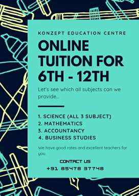 CBSE Tuition 6th - 12th Registration and Class Started