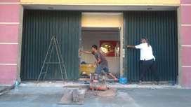 rolling door paling bagus Folding gate Harmonika siap pasang