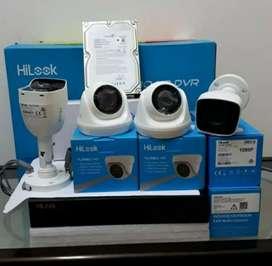 Paket 4 kamera cctv Hilook 2Mp Gratis pasang terima beres.