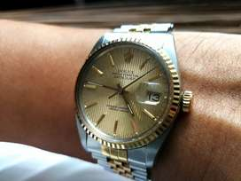 Ori 80s Rolex Oyster Perpetual DateJust 16013 2T Tapestry Dial zenith