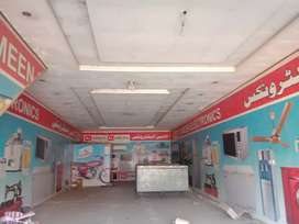 5 Marla commercial hall on rent defence or Kahna Kacha Road Lahore
