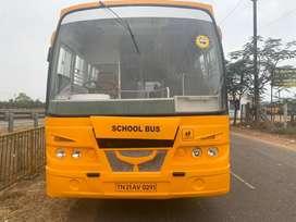 school bus Ashok leyland 2008 model 58 seats with insurance
