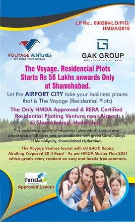HMDA approved venture Airoprt city offering Villa open plot at mamidip