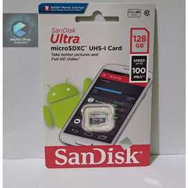 SANDISK ULTRA MICRO SD 128GB SPEED 100 MBPS NON ADAPTER