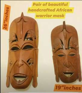 Very stylish unique design elegant look African Wooden Mask pair