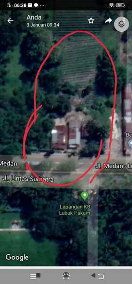 Tanah Strategis Dipinggi Jalan Lintas Sumatera