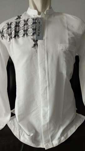 Baju koko motif putih murah promo