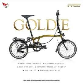 Sepeda Lipat 16 Element Pikes Gen 2 Gold Edition Goldie murah