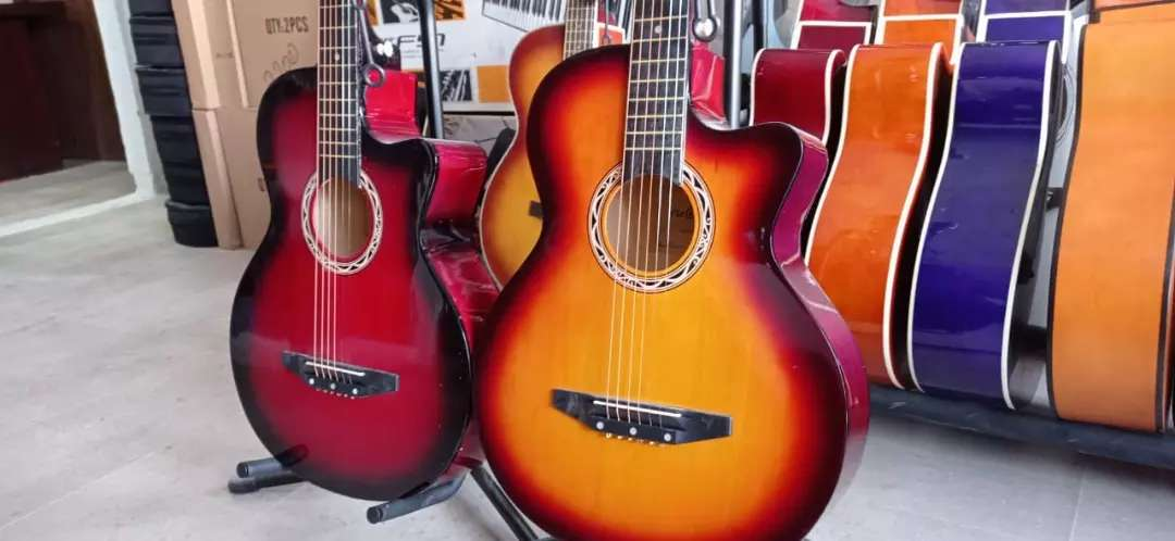 Acoustic guitar at one place
