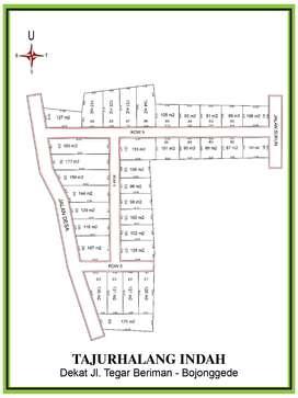 1Jtan, Tanah Kapling Dekat Jl Bogor Jakarta dan Depok Sawangan
