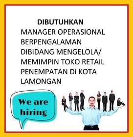 Lowongan kerja Manager Operasional/Dibutuhkan Kepala Toko