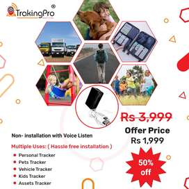 Pets& kids Tracker with non installation with Voice Listen RS-1999