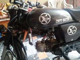 Cafe racer fully modified 70cc