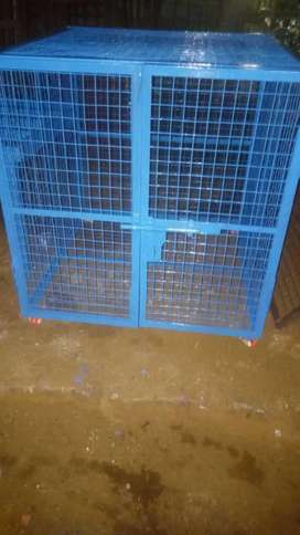 4 ft × 4 ft × 3  ft metal dog cage