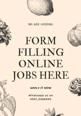 Form filling online desirable and comfortable jobs are here apply now