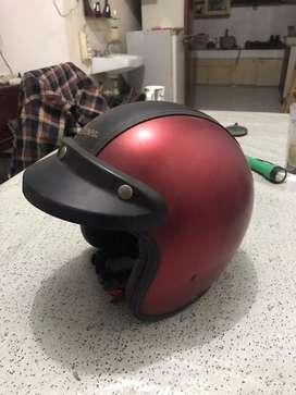 Helm Vespa Original Italy Maroon Size L