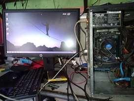 cpu core i3 2120 &monitor led HP 20 inch