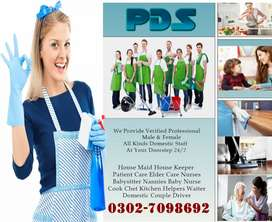 PDS) Provide Expert Male Female Cooks Kitchen Helpers Couples Maids