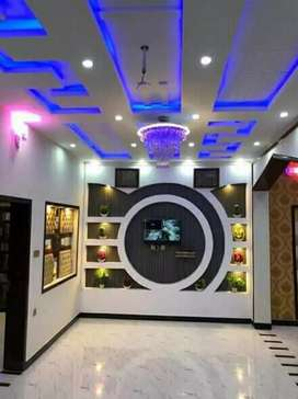 House deco. false ceiling plus walls designing