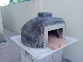 Prefabricated outdoor pizza oven