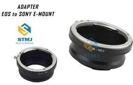 Adapter Lensa (EOS-NEX) Canon EF to Sony E Mount Body