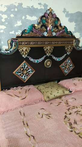 Double bed with side tables and dressing