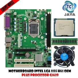 MOBO Intel LGA 1155 H61 OEM PLUS Processor Celeron G1620 + RAM 2GB