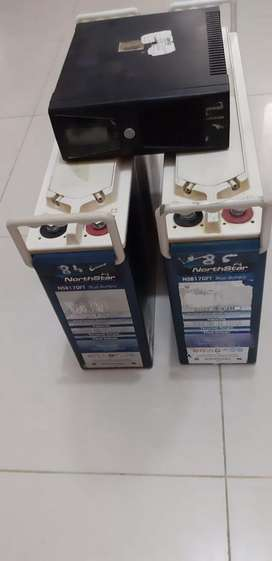 Imported North Star dry batteries from USA with Homeage inverter (UPS)