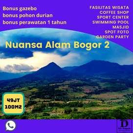 Tanah kavling lokasi strategis di Bogor gratis AJB, bibit pohon durian