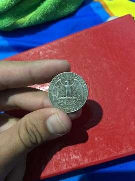 Jual Uang Koin Quarter Dollar (USA)