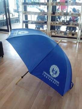 Souvenir payung lipat, standar, golf bonus sablon 1 warna 4 sisi