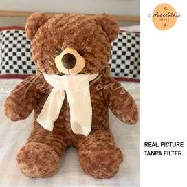 Boneka Teddy Bear (Beruang) Jumbo 80 CM Brown ID93